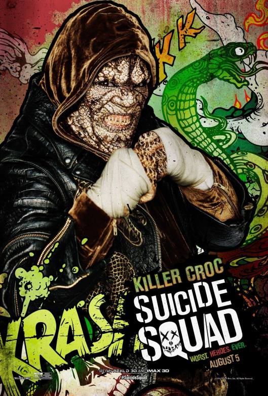 Suicide-Squad-Comic-Book-Inspired-Poster-Adewale-Akinnuoye-Agbaje-as-Killer-Croc